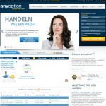 Screenshot AnyOption Broker
